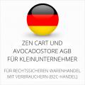 abmahnsichere Zen Cart und Avocadostore AGB für Kleinunternehmer