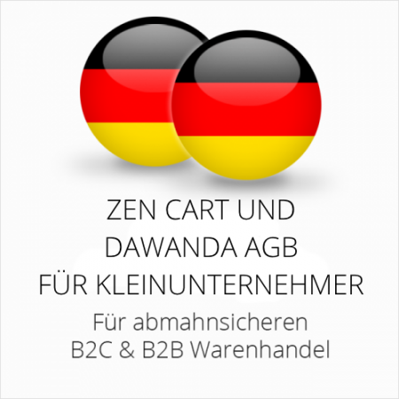 abmahnsichere Zen Cart und Dawanda AGB B2C & B2B für Kleinunternehmer