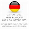 abmahnsichere Zen Cart und Froschking AGB für Kleinunternehmer