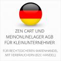 abmahnsichere Zen Cart und MeinOnlineLager AGB für Kleinunternehmer