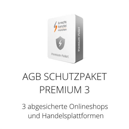 Das AGB Schutzpaket Premium 3 inklusive Update-Service