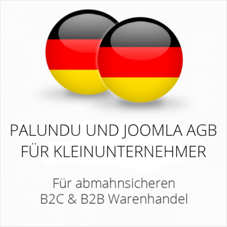abmahnsichere Palundu und Joomla AGB B2C & B2B für Kleinunternehmer