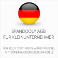abmahnsichere Spandooly AGB für Kleinunternehmer