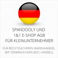 abmahnsichere Spandooly und 1&1 E-Shop AGB für Kleinunternehmer