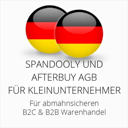 abmahnsichere Spandooly und Afterbuy AGB B2C & B2B für Kleinunternehmer