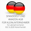abmahnsichere Spandooly und Amazon AGB B2C & B2B für Kleinunternehmer