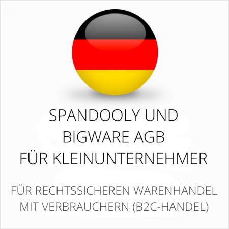 abmahnsichere Spandooly und Bigware AGB für Kleinunternehmer