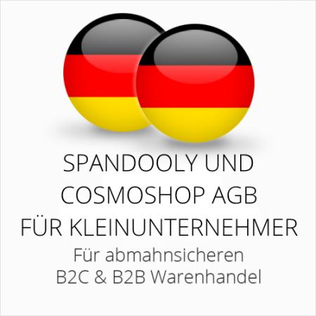 abmahnsichere Spandooly und Cosmoshop AGB B2C & B2B für Kleinunternehmer