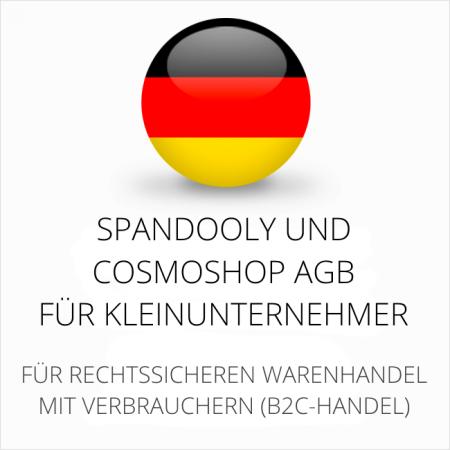 abmahnsichere Spandooly und Cosmoshop AGB für Kleinunternehmer