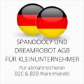abmahnsichere Spandooly und Dreamrobot AGB B2C & B2B für Kleinunternehmer