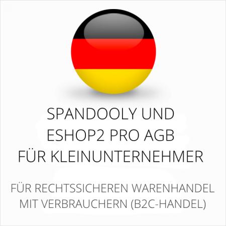 abmahnsichere Spandooly und ESHOP2 Pro AGB für Kleinunternehmer