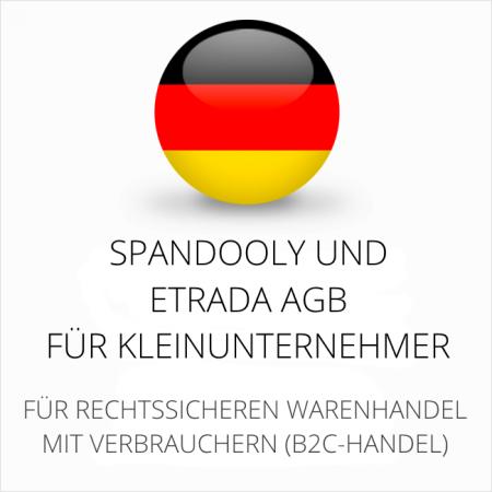 abmahnsichere Spandooly und Etrada AGB für Kleinunternehmer