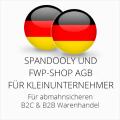 abmahnsichere Spandooly und FWP-Shop AGB B2C & B2B für Kleinunternehmer