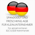 abmahnsichere Spandooly und Froschking AGB B2C & B2B für Kleinunternehmer