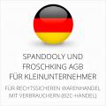 abmahnsichere Spandooly und Froschking AGB für Kleinunternehmer