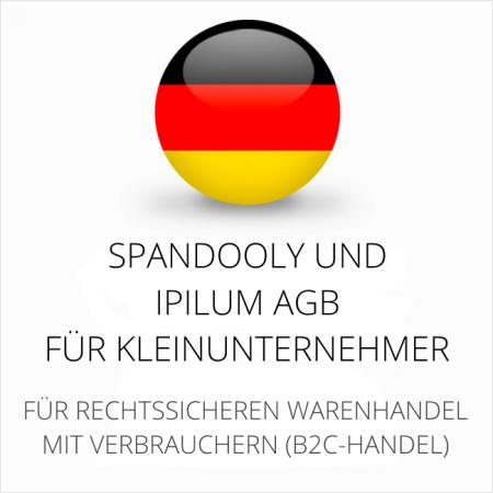 abmahnsichere Spandooly und Ipilum Shopsystem AGB für Kleinunternehmer