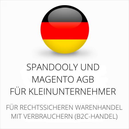 abmahnsichere Spandooly und Magento AGB für Kleinunternehmer
