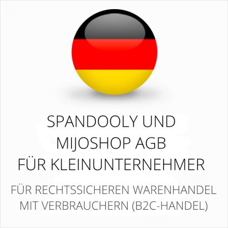 abmahnsichere Spandooly und MijoShop AGB für Kleinunternehmer
