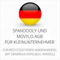 abmahnsichere Spandooly und Movylo AGB für Kleinunternehmer