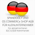 abmahnsichere Spandooly und OS Commerce Shop AGB B2C & B2B für Kleinunternehmer