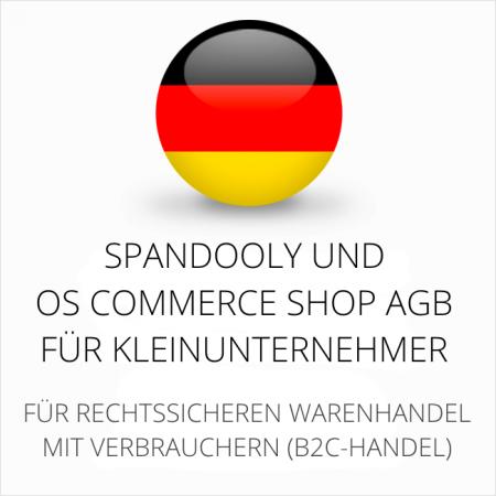 abmahnsichere Spandooly und OS Commerce Shop AGB für Kleinunternehmer