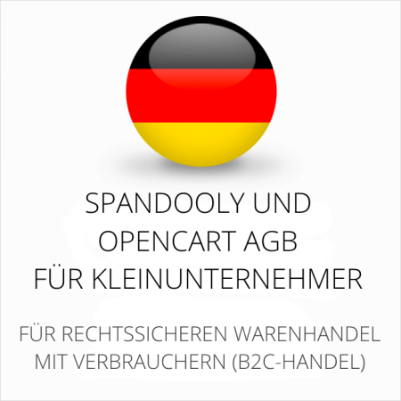 abmahnsichere Spandooly und Opencart AGB für Kleinunternehmer