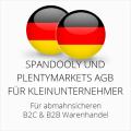 abmahnsichere Spandooly und Plentymarkets AGB B2C & B2B für Kleinunternehmer