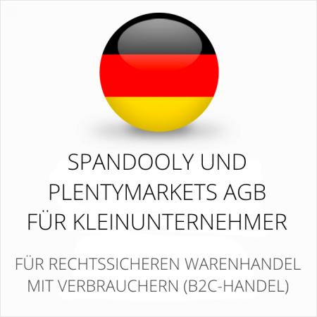 abmahnsichere Spandooly und Plentymarkets AGB für Kleinunternehmer