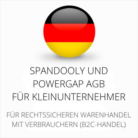 abmahnsichere Spandooly und Powergap AGB für Kleinunternehmer