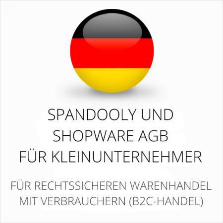 abmahnsichere Spandooly und Shopware AGB für Kleinunternehmer