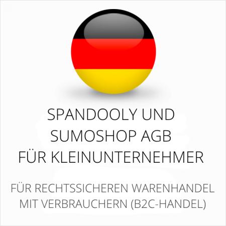 abmahnsichere Spandooly und Sumoshop AGB für Kleinunternehmer