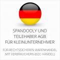 abmahnsichere Spandooly und Teilehaber AGB für Kleinunternehmer