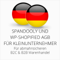 abmahnsichere Spandooly und WP-Shopified AGB B2C & B2B für Kleinunternehmer