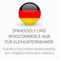 abmahnsichere Spandooly und WooCommerce AGB für Kleinunternehmer