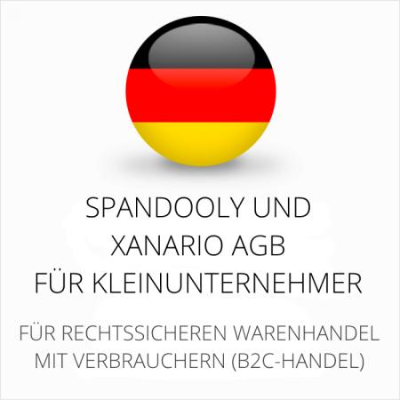 abmahnsichere Spandooly und Xanario AGB für Kleinunternehmer