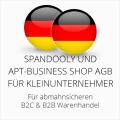 abmahnsichere Spandooly und apt-business-Shop AGB B2C & B2B für Kleinunternehmer