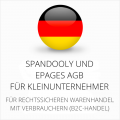 abmahnsichere Spandooly und ePages AGB für Kleinunternehmer