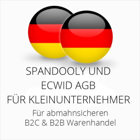 abmahnsichere Spandooly und ecwid AGB B2C & B2B für Kleinunternehmer