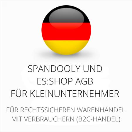 abmahnsichere Spandooly und es-shop AGB für Kleinunternehmer