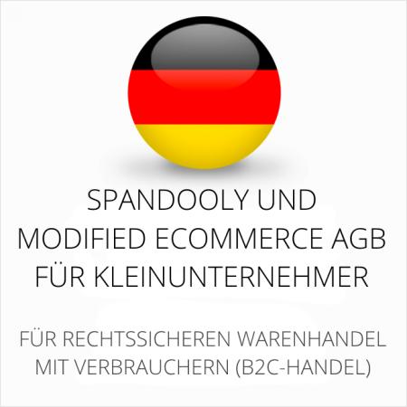 abmahnsichere Spandooly und modified ecommerce AGB für Kleinunternehmer