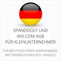 abmahnsichere Spandooly und wix.com AGB für Kleinunternehmer