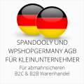 abmahnsichere Spandooly und wpShopGermany AGB B2C & B2B für Kleinunternehmer