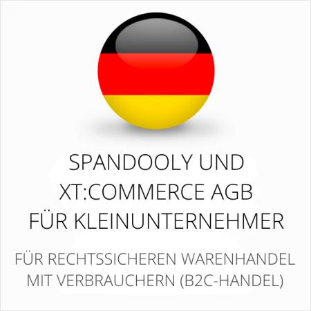 abmahnsichere Spandooly und xtCommerce AGB für Kleinunternehmer