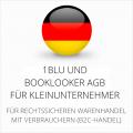 abmahnsichere 1blu und Booklooker AGB für Kleinunternehmer