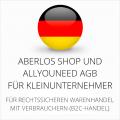 abmahnsichere AberLos Shop und Allyouneed AGB für Kleinunternehmer