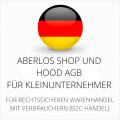 abmahnsichere AberLos Shop und Hood AGB für Kleinunternehmer