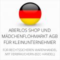 abmahnsichere AberLos Shop und Mädchenflohmarkt AGB für Kleinunternehmer
