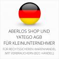 abmahnsichere AberLos Shop und Yatego AGB für Kleinunternehmer