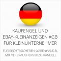 abmahnsichere Kaufengel und Ebay-Kleinanzeigen AGB für Kleinunternehmer