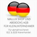abmahnsichere Mallux Shop und Abebooks AGB B2C und B2B für Kleinunternehmer